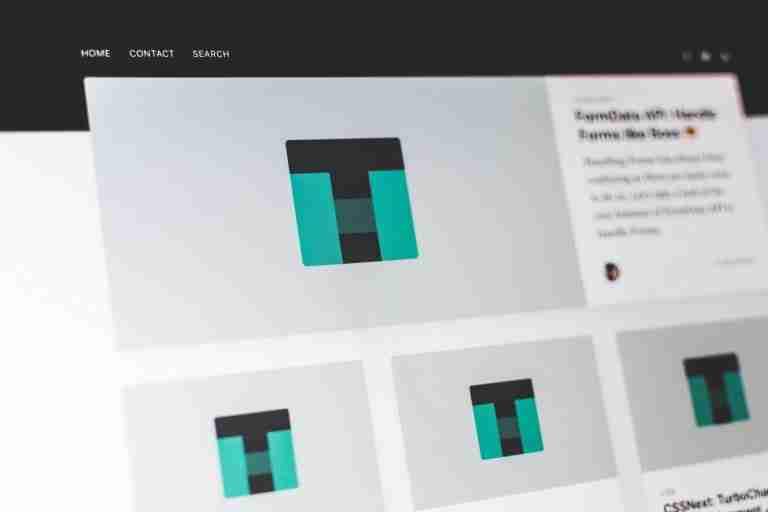 generic website layout example